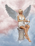 Angel`s song. 3d render of angel´s song Stock Image