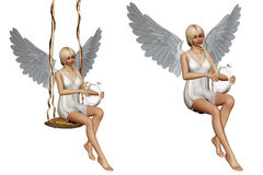 Angel´s song 2. 3d render of antel´s song 2 Stock Photography