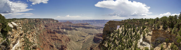 Angel`s Window Panorama. A panoramic image of Angel`s Window at the Grand Canyon Royalty Free Stock Photography