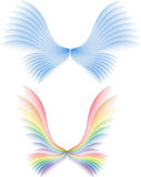 Angel's wing. Two orginal blue and color wing Royalty Free Stock Photos