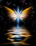 Angel's Wings. Shining Angel Wings above water surface Royalty Free Stock Photos
