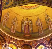 Angel Saints Dome Crusader Church Holy Sepulcher Jerusalem Israel royalty free stock images