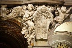 Angel. Santa Maria del Popolo Church, details. Rome. Italy stock photo