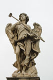 Angel sculpture. From St Angelo bridge in Rome, Italy Stock Image
