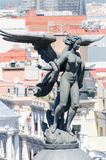 Angel sculpture on Metropolis building Royalty Free Stock Images
