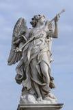 Angel Sculpture - Ponte Sant Angelo Rome Fotografering för Bildbyråer