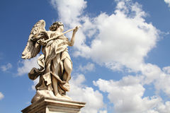 Angel sculpture in Rome Stock Photo