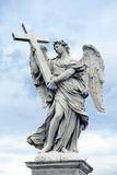 Angel Sculpture in Rome, Italy Stock Image