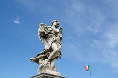 Angel sculpture in Rome, Italy Stock Photo