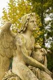 Angel sculpture. At Vienna main-cemetery Stock Photos