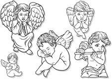 Angel Set pequeno ilustração stock