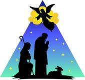 Angel Shepherds Silhouette/eps vector illustration