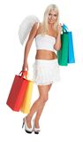 Angel shopping Stock Images