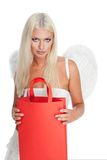 Angel with shopping bag Stock Photography