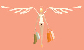 Angel_shopping.cdr Stock Images