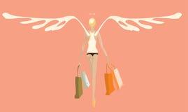 Angel_shopping.cdr illustration stock