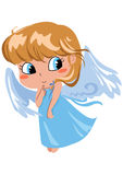 angel shy Arkivfoton