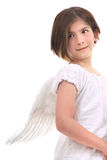Angel from the side Royalty Free Stock Image