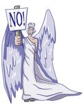 Angel with sign Royalty Free Stock Photo
