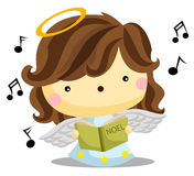Angel Singing. An angel singing with choir book Royalty Free Stock Photos