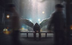 Angel left ignored royalty free stock photography