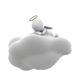 Angel sitting on a cloud Royalty Free Stock Photo