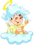Angel sitting on a Cloud with Hat of Foam Stock Photos