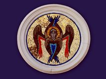 Angel with six wings royalty free stock images