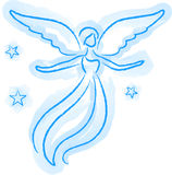 Angel Sketch. Illustration of an angel in a watercolor style vector illustration