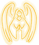 Angel Sketch. Illustration of an angel in a watercolor style royalty free illustration
