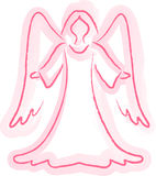 Angel Sketch. Illustration of an angel in a watercolor style Royalty Free Stock Photos
