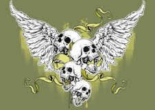 Angel skull Royalty Free Stock Photo