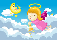 Angel in sky Stock Images
