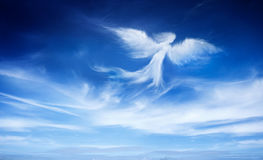 Angel in the sky. Cloud angel shape in the sky royalty free stock photography