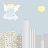 Angel at the sky Stock Photography