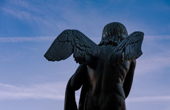 Angel in the sky. Sculpture of Angel in Berlin Stock Photos