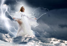 Angel in the sky storm Royalty Free Stock Images