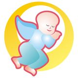 Angel sleeping. Art illustration or logo: angel sleeping Royalty Free Stock Images