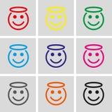 Angel smile icon stock vector illustration flat design Royalty Free Stock Photo