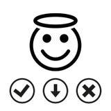 Angel smile icon stock vector illustration flat design Stock Photos