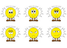 Angel smilies character set Stock Images
