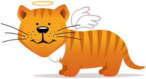 Angel smiling cat Royalty Free Stock Photography