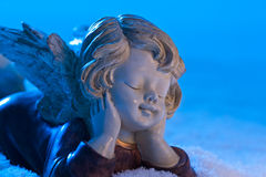 Angel in snow Royalty Free Stock Images
