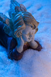Angel in snow Stock Photography