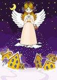 Angel with snow. Illustration for use in design vector illustration