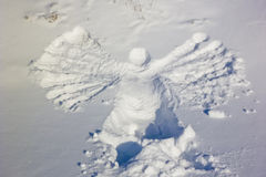 Angel in the snow Royalty Free Stock Photo