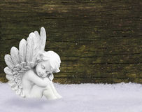 Angel in snow Stock Photos