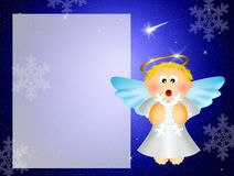 Angel with snowflakes Royalty Free Stock Photos