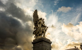 Angel and solder Royalty Free Stock Images