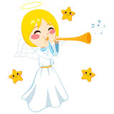 Angel Sounding Trumpet Royalty Free Stock Photography